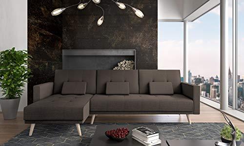COMFORT Home-Innovation Divano Chaise Longue Verona 267cm, Convertibile in Letto, Reversibile, Marrone, 267x137x88cm
