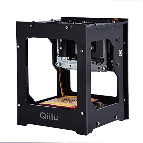 Qiilu 1500mw Laser Graviermaschine Off-line mit Schutzbrillen für Win 7, XP, Win 8, Win 10, ios 9,0, Android 4.0
