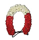 Girls Accessories Styling Bridal Gajra (Veni) Bun Decoration Gajra - Red White