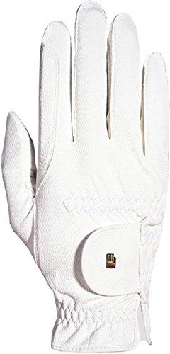 Roeckl Sports -Roeck Grip Junior- Handschuh, Kinder Reithandschuh, Weiß, 5
