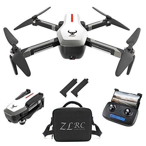 Goolsky SG906 GPS Senza spazzole 4K Drone con Fotocamera Borsa 5G WiFi FPV Pieghevole Portata Ottica di Posizionamento Altitude Hold RC Quadcopter Drone con 2 Batteria