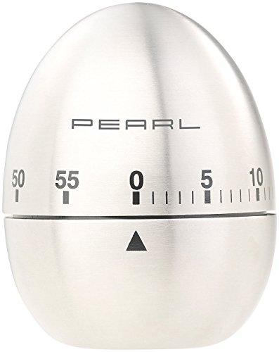 PEARL Kurzzeitwecker: Kurzzeitmesser, Eieruhr aus Edelstahl, 60-Minuten-Timer und Signalton (Küchenwecker)