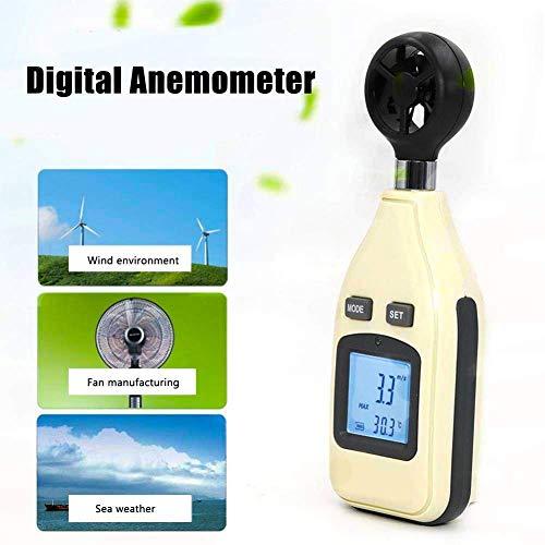 TYZXR Anemometro Portatile, Display a Cristalli liquidi ad Alta precisione con Display a Cristalli...