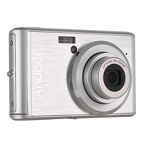 Docooler Andoer Digital Camera 20MP 1080P FHD Video Camcorder w/ 2pcs Rechargeable Batteries 8X Optical Zoom Anti-Shake 2.4in LCD Kids