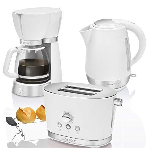 Set da colazione, macchina da caffè americano, 15tazze, tostapane 2 fette, bollitore d'acqua...