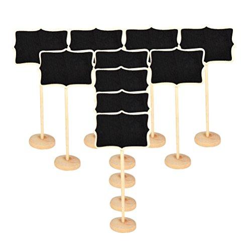 MCUILEE MINI Irregolare lavagna Lavagnette messaggi di legno in legno con targhetta matrimonio...