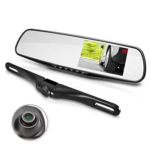 Dual Dash Cam Car Backup Camera Waterproof Night Vision Car Recorder w Mic