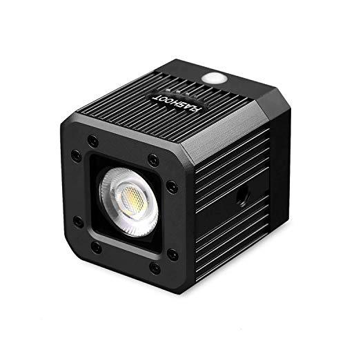 fotowelt Cube luce video a led ricaricabile con 1/4'20 fori per biciclette Camping Lighting per...