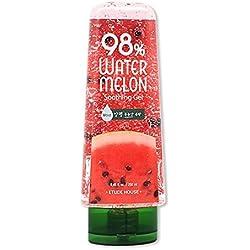 Etude House - 98% Watermelon Soothing Gel - Gesichtsgel mit Wassermelone für trockene, fettige und normale Haut / Mischhaut - Hautgel für Männer und Frauen - Tagespflege unisex - Reinigungsmilch & Cremes für das Gesicht - Hautpflege - Feuchtigkeitspflege - After Sun-Pflege - Feuchtigkeitsgel fürs Gesicht