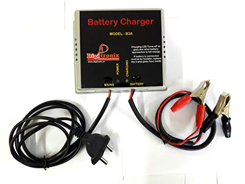 DigiTronix- CAR Bike Battery Charger/Lead Acid 12V Battery Charger - 3 Amps- B3A
