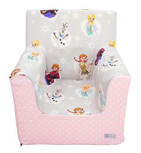 Poltrona o poltroncina per bambini Montessori. Vari modelli e colori disponibili (Frozen)