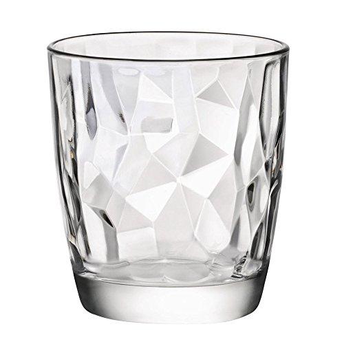Bormioli Rocco Diamond Trasparente Bicchiere da acqua 305ml, 6 bicchieri