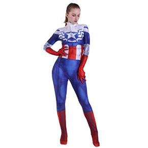 QQWE Capitán América, Traje de Cosplay, para Mujer, Peggy Carter, Adultos, niños, Disfraces, Disfraces, Ropa de Navidad, Halloween, Trajes de superhéroes, Monos,Adult-M
