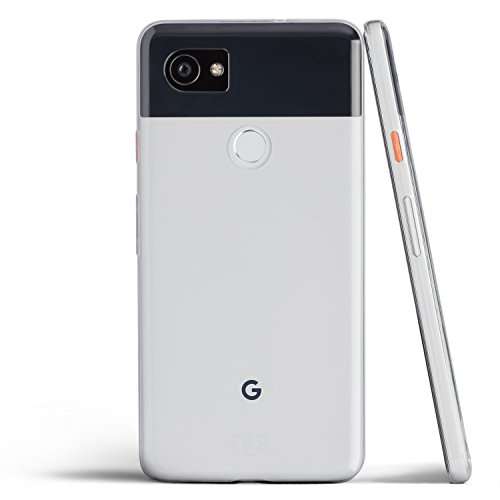 Pixel 2 XL Case, Thinnest Cover Premium Ultra Thin Light Slim Soft Minimal Anti-Scratch Protective - for Google Pixel 2XL | totallee (Clear)