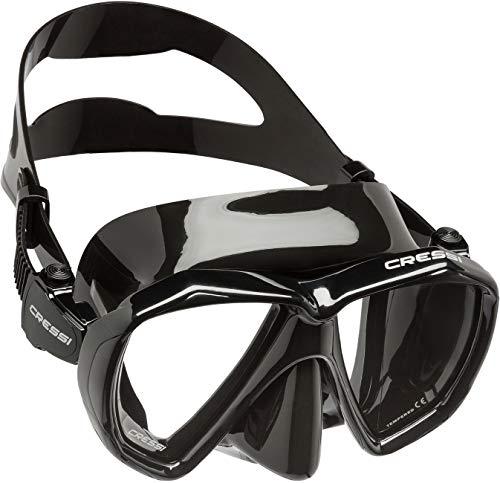 Cressi Ranger Mask, Maschera per Snorkeling e Immersioni Unisex - Adulto, Nero, Taglia Unica