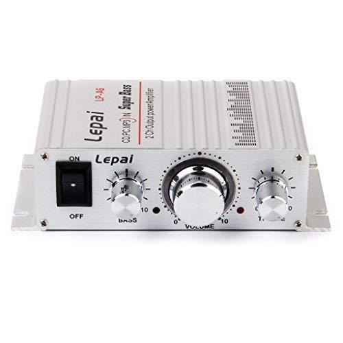 Electomania Hi-Fi Stereo Audio Mini Amplifier (Silver)