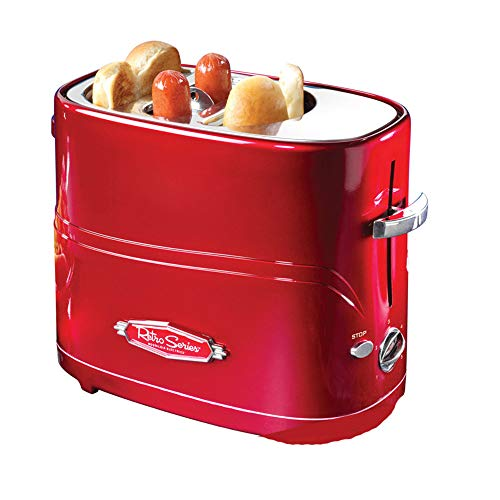 ACOMG Mini Macchina per Fare Colazione Hot Dog tostapane, Mini Macchina per Hot Dog per Uso...