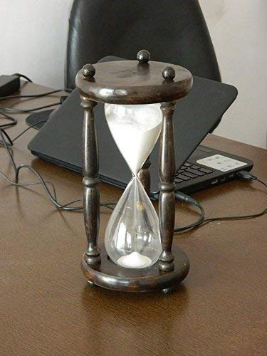 Roorkee Instruments (India) 60 Minute Hour Glass - Vintage Style One Hour Sand Timer (One Hour)