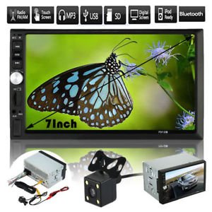 SLB Works Brand New Double 2DIN In Dash Car DVD MP5 Player Bluetooth Auto Stereo Radio USB+Camera US