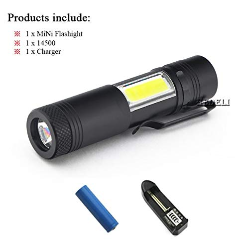 Package B : Pocket Light Portable Mini LED Flashlight Torch CREE Q5 Flash Light HEDELI HD-401 Hiking Camping Lamp by AA or 14500 Battery