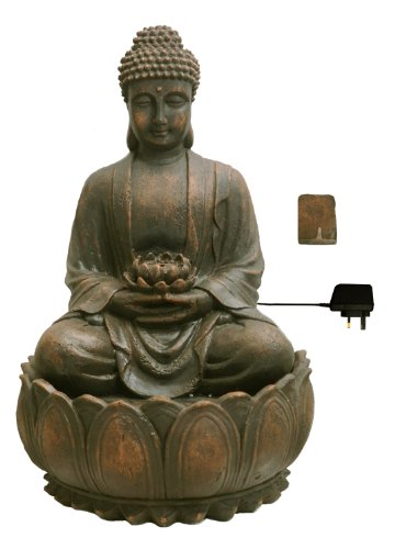 Ambiente Fuente de Jardín Buda en Meditación 6