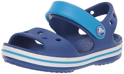 Crocs Crocband Sandal Kids, Sandali con Cinturino alla Caviglia Unisex - Bambini, Blu (Cerulean Blue/Ocean), 22/23 EU