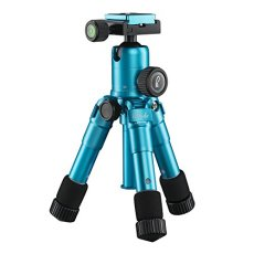 Mantona 21184 Digitales / cámaras de película 3leg(s) Azul tripode - Trípode (Digitales / cámaras de película, 5 kg, 3 pata(s), 49,5 cm, Azul, Sistema de bloqueo por giro Twist Lock o Sistema de cierre tipo rosca Twist Lock)