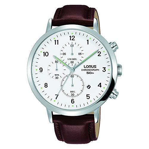LORUS Orologio Cronografo Quarzo Uomo con Cinturino in Pelle RM317EX8