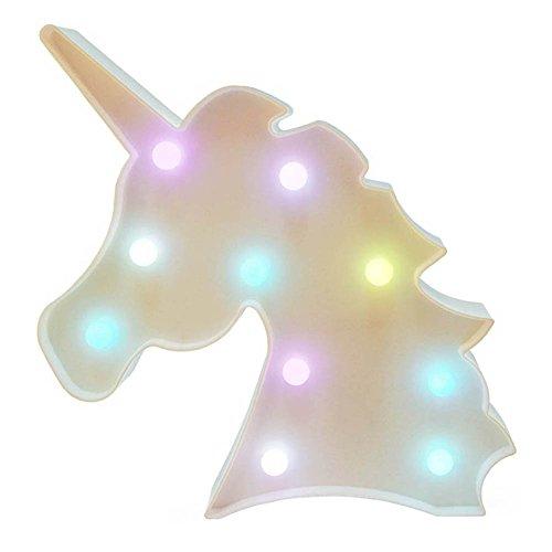 QINGYUN, lampada notturna a LED a forma di unicorno, luce per bambini, decorazione da parete per...