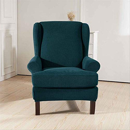 DINDAL Fodera per Sedia Sloping Arm King Back Chair Copertura Elastica Poltrona Wingback Wing Sofa Back Chair Copertura Stretch Altro Azzurro