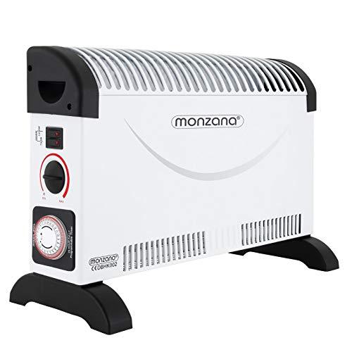 monzana Konvektor | 2000 W | Heizgerät | 24Std. Timer | Frostwächterfunktion | stufenlose Thermosteuerung