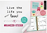 myNOTES Live the life you love!: Organizer-Sticker für dein Bullet Journal
