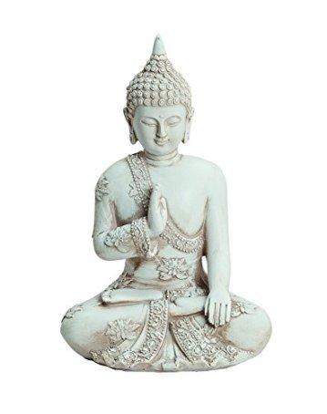Figura de Buda 17 cm de altura de poliresina 3