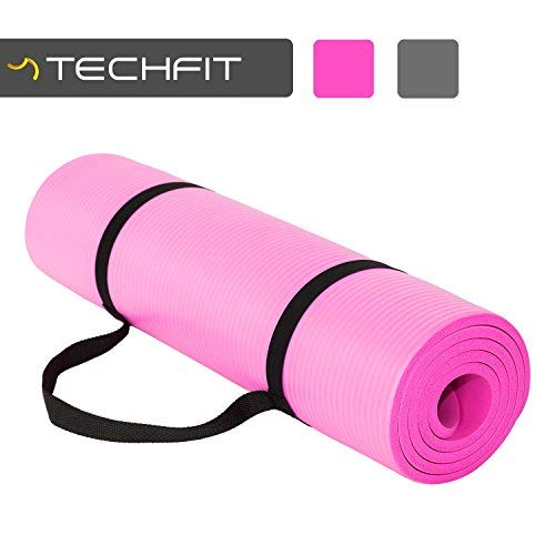 TechFit Fitness Tappetino Yoga, Extra Spessore, Rosa, 180 x 60 cm