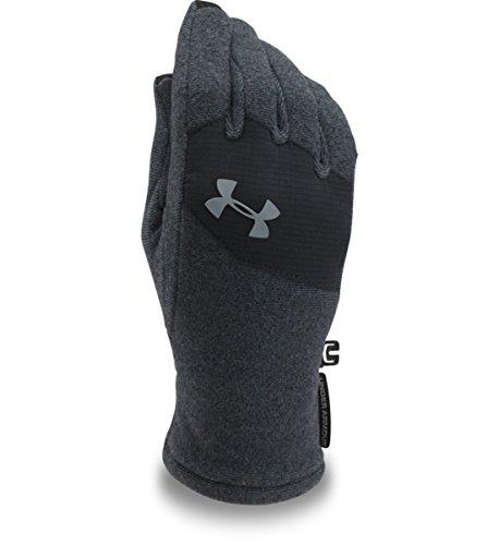 Under Armour, Yth Survivor Fleece Glove 2, Guanto, Uomo, Nero (Nero/Nero/Acciaio), M