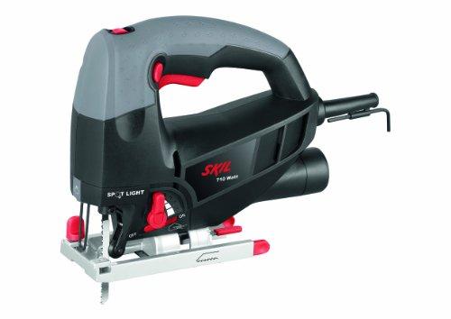 Skil 4581CA - Sierra de calar pendular con variador de velocidad (710 W, conexión para aspirador, soplador, hoja de sierra de calar)