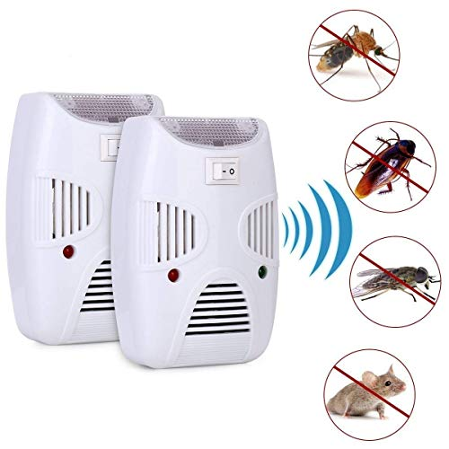 Zomoza Ultrasonic Repellent, Electronic Bug Repellent Reject Ant, Mosquito, Rat, Roach, Flea, Rodent, Insect, Pest Repellent Indoor Rat Sensor