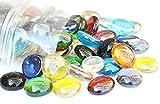 100Couleurs mélangées rond en verre Galets/pierres/strass/pépites/perles 17-20mm