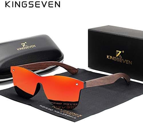 Handgefertigte Sonnenbrillen Herren Polarized Walnut Wooden Eyewear Damen Spiegel Vintage de sol Masculino