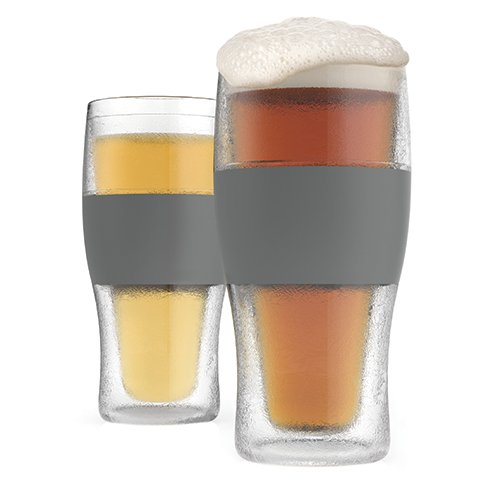 Host 330916Ounce Freeze Cooling Beer Pinta Glasses–Plastica Trasparente 19.558x 2.54x 18.41cm