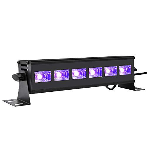 Viugreum- Barra Luce UV da Party 18W Pulsante On Off Tubo Luce Fluorescente Luci Natalizie Festa...