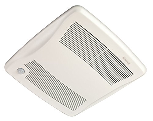"Broan ZB80M Ultra Series Multi-Speed Motion Sensing Ventilation Fan, 80 CFM, 6"" or 4"""