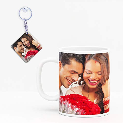 GiftsOnn Beautiful Personalized Mug Customized with Photo Mug Valentine Day,Birthday,Anniversary, mothers's Day, Father's Day,Raakhi