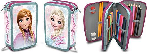 Disney Frozen-Astuccio Triplo, Kids Euroswan fr17127