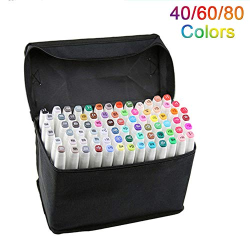 Artista Necessario grafico pennarello Double Ended Finecolour Sketch Marker largo e punta fine punta...
