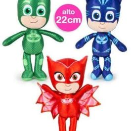 3 PELUCHE PJ MASK SUPER PIGIAMINI PELUCHE 22 CM PLAY BY PLAY SET COMPLETO DA 3 PEZZI IDEA REGALO