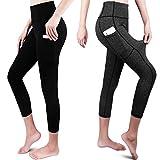 GRAT.UNIC Mallas Deportivas de Mujer, Mujer Pantalones elásticos de yoga con bolsillos laterales,...