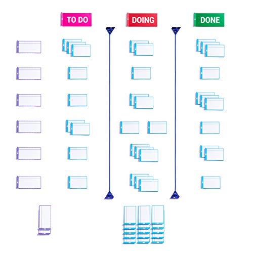 Scrum board basic set con carte magnetiche di PATboard | Magneti per agile, scrum, kanban lavagna |...