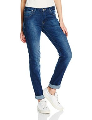 Lee Marion Straight Jeans Black