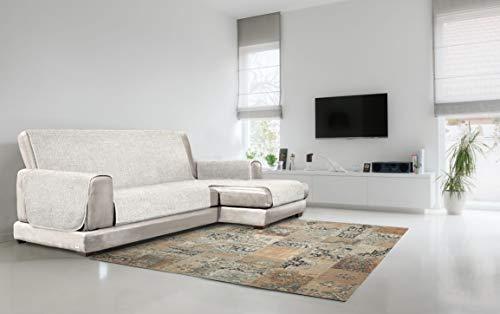 Italian Bed Linen Copridivano Antiscivolo Comfort con Penisola DX, Panna, 290 cm
